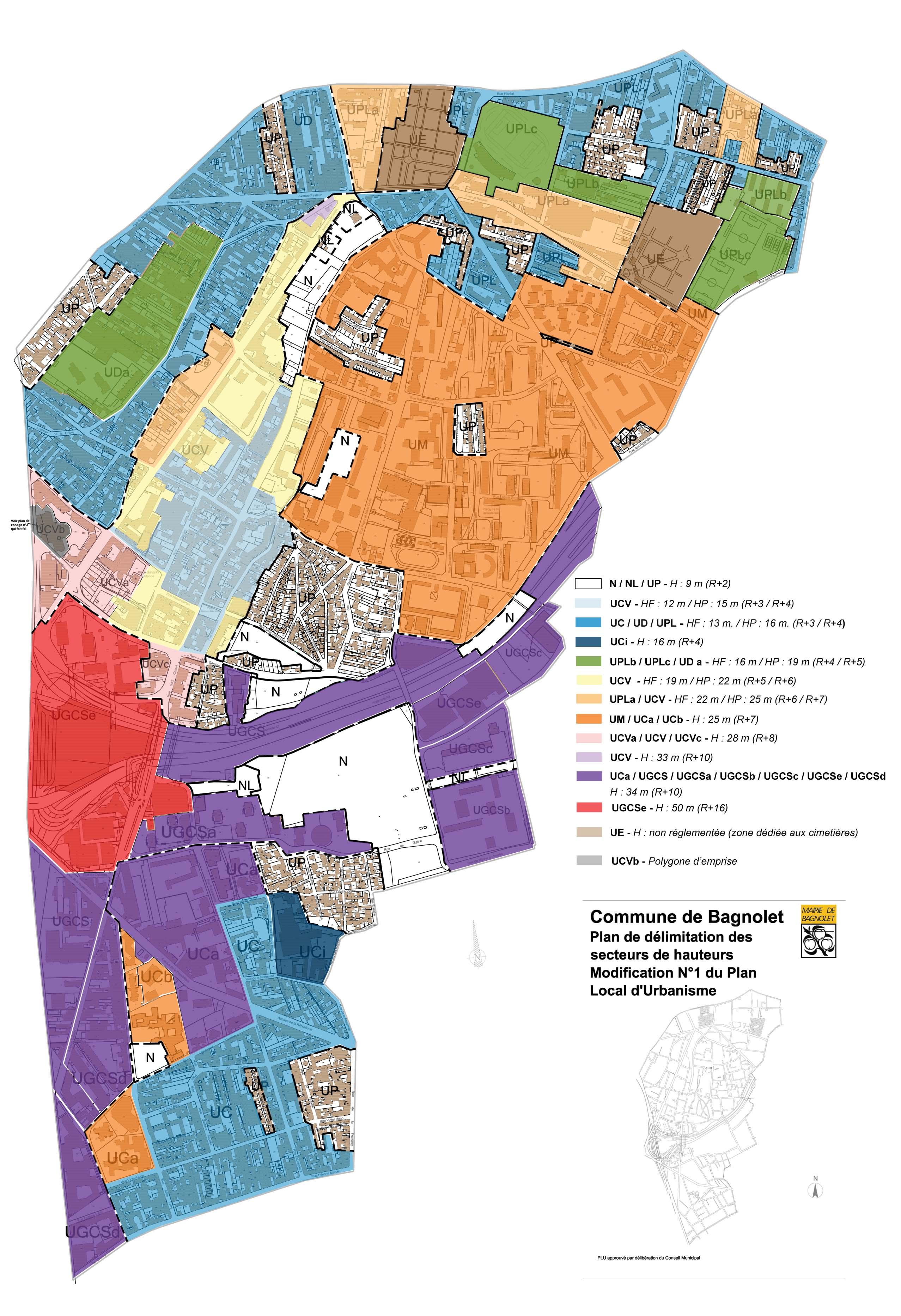 Plan De La Ville De Bagnolet