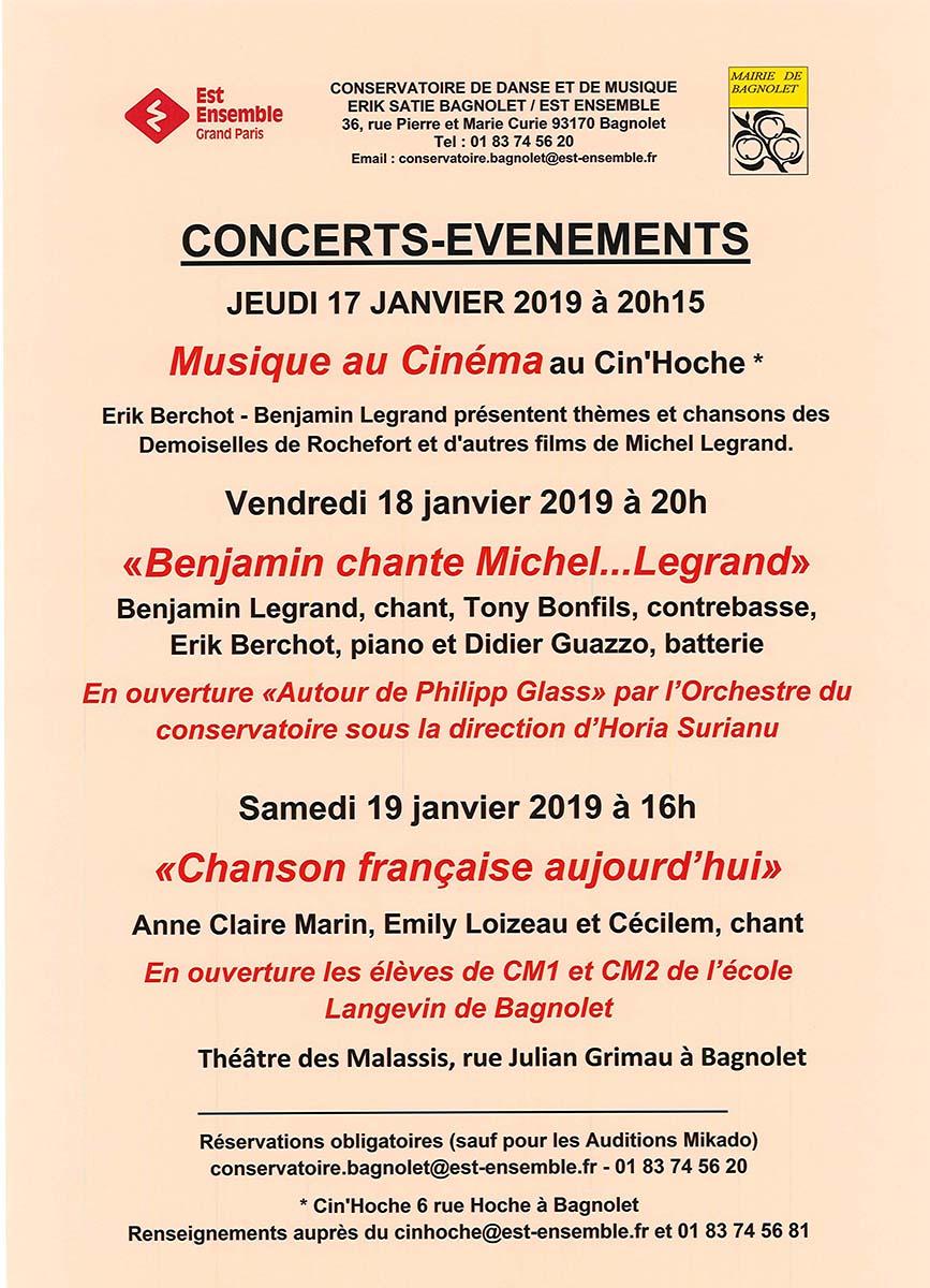 Le Conservatoire Erik-Satie commence l'année en chansons !